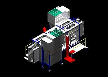 Cabine de pintura eletrostática automatica